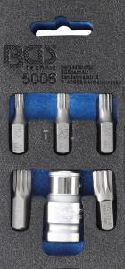 BGS Technic Csavarhúzó-behajtófej készlet | Külső hatszögletű 10 mm (3/8) | (XZN) | 6 darabos