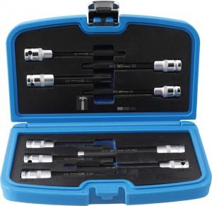 BGS Technic Behajtófej/dugókulcskészlet | Hengeres fejű csavarok | 12,5 mm (1/2) | 9 darabos