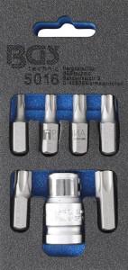 BGS Technic Csavarhúzó-behajtófej készlet | Külső hatszögletű 10 mm (3/8) | T-profil (Torx) | 7 darabos