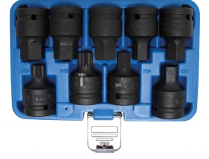 BGS Technic Levegős dugókulcskészlet | 20 mm (3/4 ) | Belső hatszögletű, (XZN) | 9 darabos