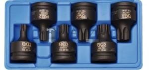 BGS Technic Levegős dugókulcskészlet | 20 mm (3/4 ) | T-profil (Torx) T55 - T100