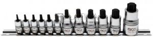 BGS Technic Behajtófej-készlet | extra rövid | T-profil (Torx) T8 - T60 | 12 darabos