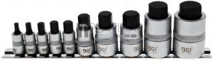 BGS Technic Behajtófej-készlet | extra rövid | imbusz 4 - 19 mm | 10 darabos
