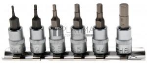 BGS Technic Behajtófej-készlet | 6,3 mm (1/4) | Belső hatszögletű 1,5 - 6 mm