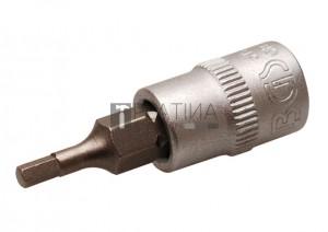 BGS Technic Behajtófej | 6,3 mm (1/4 ) | Belső hatszögletű 2,5 mm