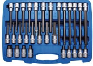 BGS Technic Behajtófej-készlet | 12,5 mm (1/2) | Belső hatszögletű | 30 darabos