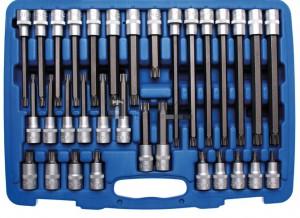 BGS Technic Behajtófej-készlet | 12,5 mm (1/2 ) | Ékprofil (RIBE) | 32 darabos
