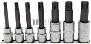 BGS Technic Behajtófej-készlet | 10 mm (3/8 )/12,5 mm (1/2 ) | Ékprofil (RIBE) M6 - M14