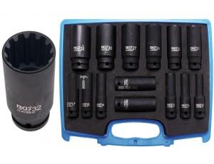BGS Technic Levegős dugókulcskészlet Gear Lock | 12,5 mm (1/2 ) | 10 - 32 mm | 14 darabos