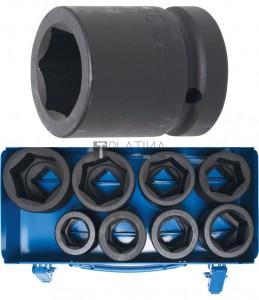 BGS Technic Levegős dugókulcskészlet hatszögletű | 25 mm (1) | 27 - 50 mm | 8 darabos
