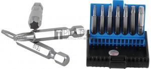 BGS Technic Csavarkiszedő készlet | hibás T-profilhoz (Torx) T10 - T40 | 7 darabos