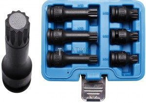 BGS Technic Levegős dugókulcskészlet | 12,5 mm (1/2 ) | (XZN)