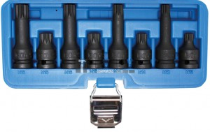 BGS Technic Levegős dugókulcskészlet | 12,5 mm (1/2 ) | (XZN) | 8 darabos