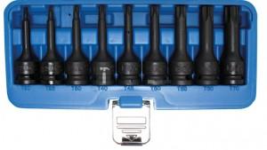 BGS Technic Levegős dugókulcskészlet | 12,5 mm (1/2 ) | T-profil (Torx) T20 - T70 | 9 darabos