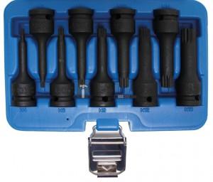 BGS Technic Levegős dugókulcskészlet | 12,5 mm (1/2 ) | (XZN) M4 - M16 | 9 darabos