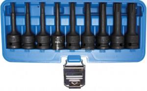 BGS Technic Levegős dugókulcskészlet | 12,5 mm (1/2 ) | Ékprofil (Ribe) M5 - M14 | 9 darabos