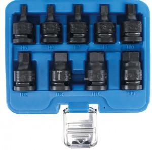 BGS Technic Levegős dugókulcskészlet | 12,5 mm (1/2 ) | Belső hatszögletű 5 - 19 mm | 9 darabos