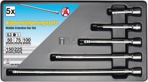 BGS Kraftmann Billenős hosszabbító készlet | 6,3 mm (1/4 ) | 5 darabos