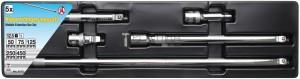 BGS Kraftmann Billenős hosszabbító készlet | 12,5 mm (1/2 ) | 5 darabos