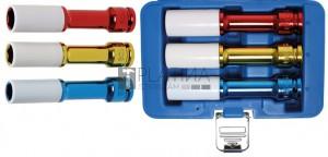 BGS Technic Légkulcsfej készlet | 12,5 mm (1/2 ) | 150 mm mély | 17/19/21 mm | 3 darabos