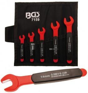 BGS Technic 5 részes VDE szigetelt villáskulcs készlet | 7 - 14 mm