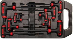 BGS Kraftmann Csavarhúzó T-fogantyúval és oldalpengével | belső hatszögletű | 2 - 10 mm | 9 darabos