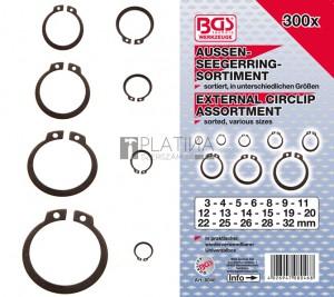 BGS Technic Külső seegergyűrű készlet | Ø 3 - 32 mm | 300 darabos