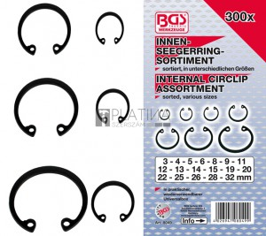 BGS Technic Belső seegergyűrű készlet | Ø3 - 32 mm | 300 darabos