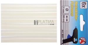 BGS Kraftmann Melegenragasztó-patronok | átlátszó, fehér | 11 x 100 mm | 6 darabos
