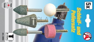 BGS Kraftmann Csiszoló és polírozó készlet | 5 darabos