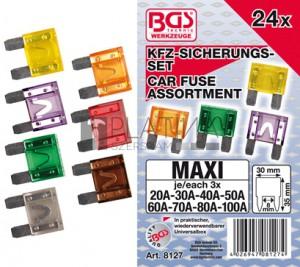 BGS Technic Gépjármű biztosítékkészlet | Maxi | 24 darabos