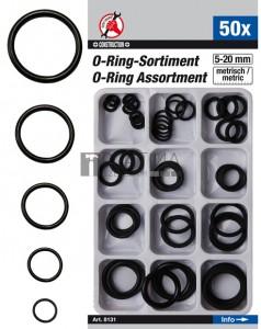 BGS Kraftmann O-gyűrű készlet | Ø 5 - 20 mm | 50 darabos
