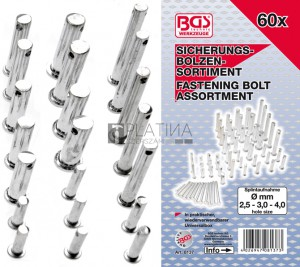 BGS Technic Csapszeg készlet | 60 darabos