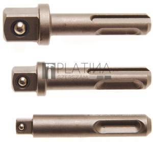 BGS Technic Adapterkészlet | SDS - 6,3 mm (1/4 ), 10 mm (3/8 ), 12,5 mm (1/2 ) | 3 darabos