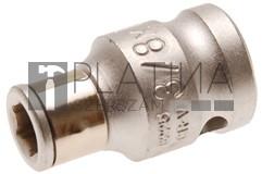 BGS Technic Golyós behajtófej-adapter | 10 mm (3/8 ) - Belső hatszögletű 6,3 mm (1/4 )