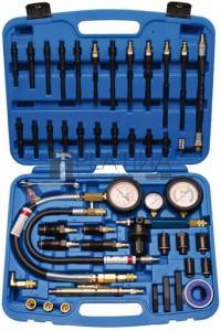 BGS Technic Benzines és dízel kompressziómérő, szivárgásmérő készlet