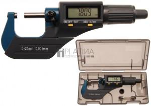 BGS Technic Digitális kengyeles mérőcsavar | 0 - 25 mm