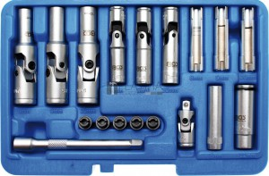 BGS Technic Izzítógyertya kiszedő készlet | 18 darabos