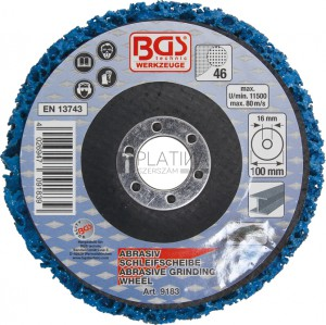 BGS Technic Négertárcsa | kék | Ø 100 mm | Befogófurat 16 mm