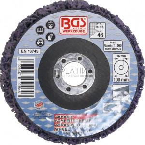 BGS Technic Négertárcsa | fekete | Ø 100 mm | Befogófurat 16 mm