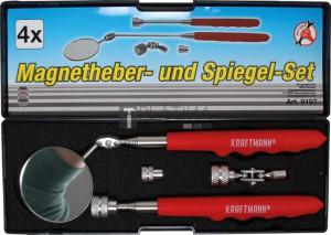 BGS Kraftmann Mágneses felszedő és ellenörző tükör készlet | 4 darabos