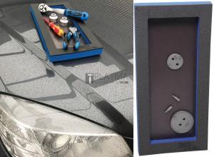 BGS Technic Műhelykocsi-betét 1/3: Tárolórekesz mágneses fenéklemezzel   129 x 348 x 14 mm