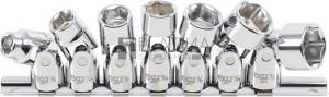 BGS Technic Csuklós dugókulcskészlet | 10 mm (3/8 ) | 3/8  - 3/4  | coll méretek | 7 darabos