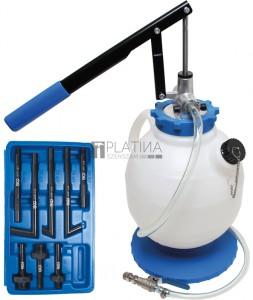 BGS Technic Hajtóműolaj-betöltő készülék kézi pumpával, 8 adapterrel   7 l