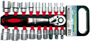 BGS Kraftmann Dugókulcskészlet | 12,5 mm (1/2 ) | 8 - 32 mm | 19 darabos