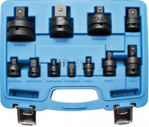 BGS Technic dugókulcs-átalakító és gömbcsukló készlet | 6,3 mm (1/4) - 25 mm (1) | 11 darabos