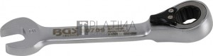 BGS Technic Racsnis csillag-villáskulcs, rövid, átkapcsolható   9 mm