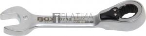 BGS Technic Racsnis csillag-villáskulcs, rövid, átkapcsolható   12 mm