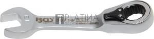 BGS Technic Racsnis csillag-villáskulcs, rövid, átkapcsolható   13 mm