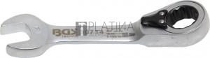 BGS Technic Racsnis csillag-villáskulcs, rövid, átkapcsolható   14 mm